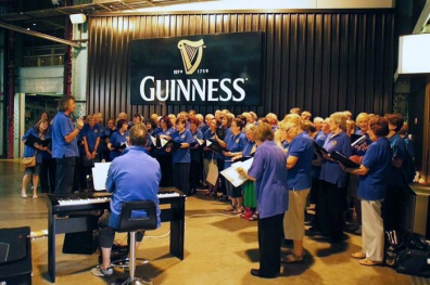 Hallelujah Chorus at the Guinness Storehouse, Dublin.
