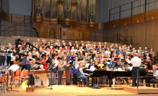 Rehearsal in the Elgar concert hall, Bramall Music Building