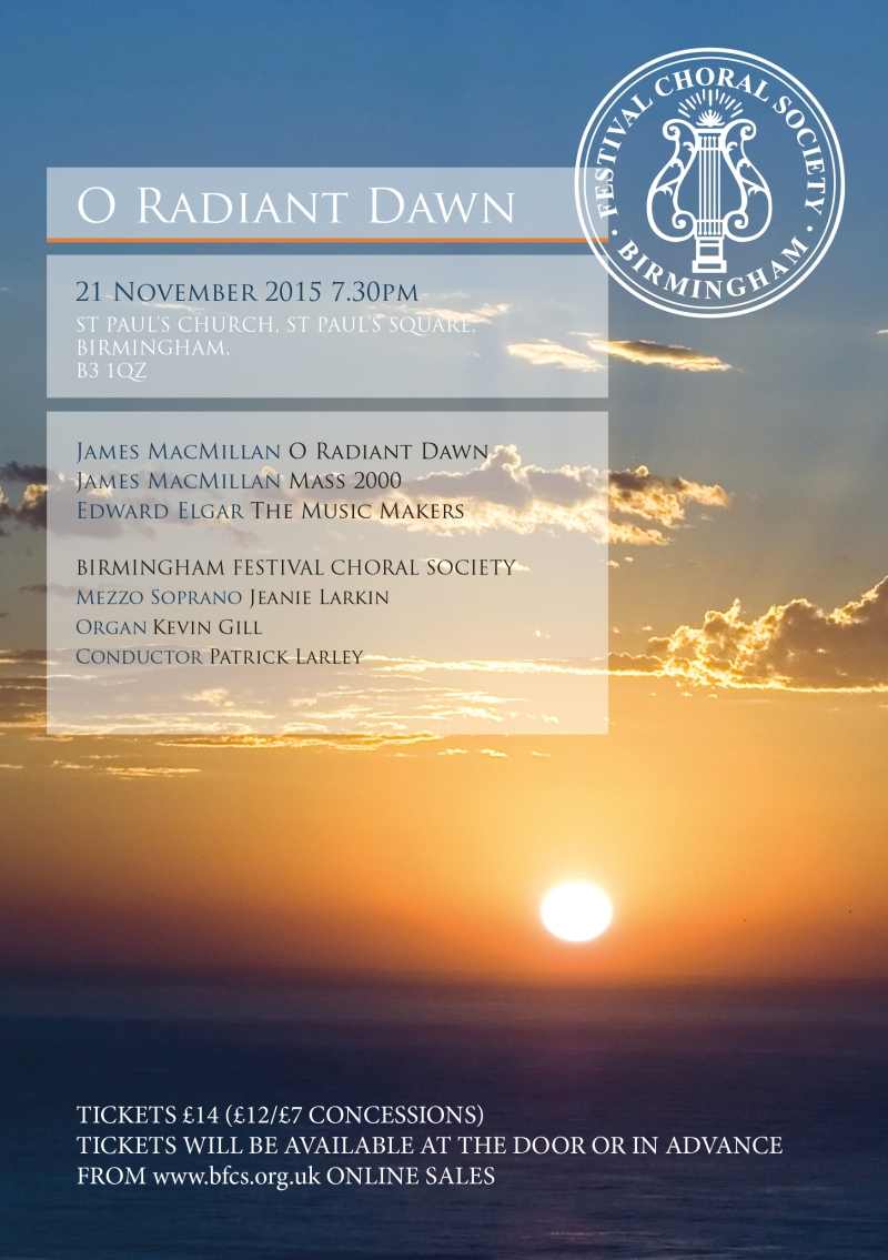 O Radiant Dawn Concert Poster