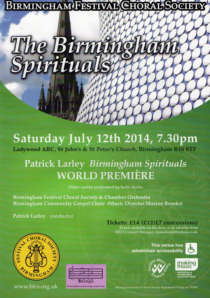 Birmingham Spirituals Concert Poster