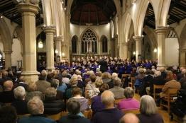 A full church to hear the 'In Paradisum' concert.