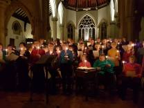 The Choir by Candlelight. (Photo taken by the Lord Mayor)
