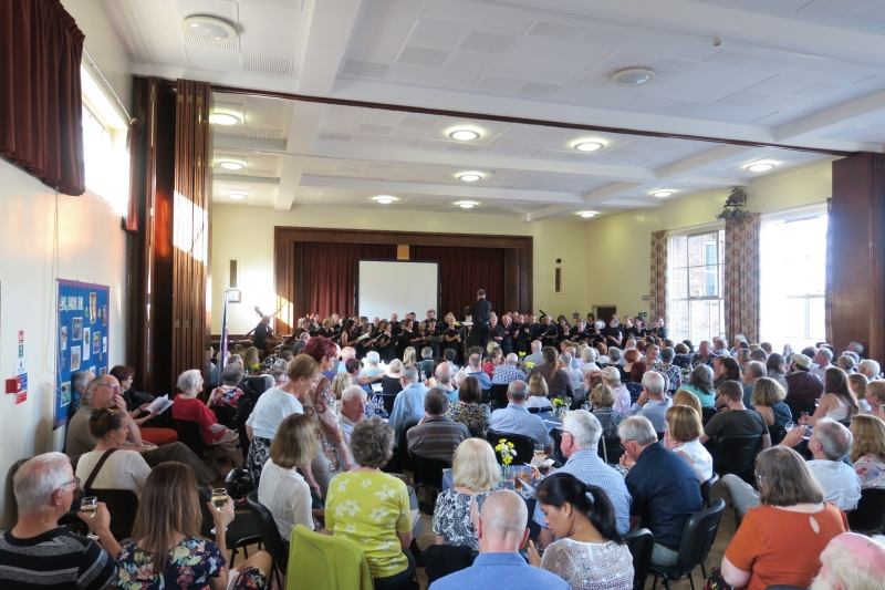 A full hall for 'Choral Jazz and Blues' (Photo by David Jones)